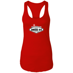 Welcome to Area 51 - NL1533 Ladies Racerback Tank - Starbase9