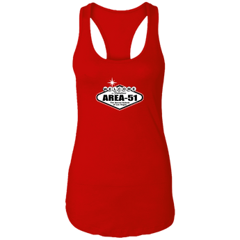 Welcome to Area 51 - NL1533 Ladies Racerback Tank - Area 51 UFO Souvenirs Gifts T-Shirts