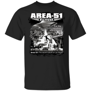 Area 51 Travel Abduction 5.3 oz. T-Shirt - Starbase9
