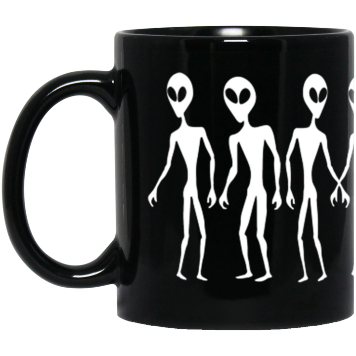 Aliens UFO AREA 51 - BM11OZ 11 oz. Black Mug - Area 51 UFO Souvenirs Gifts T-Shirts
