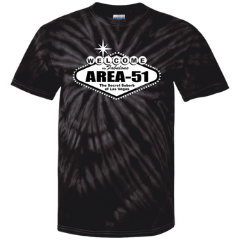 Welcome to Area 51 Earthlings - CD100 100% Cotton Tie Dye T-Shirt - Area 51 UFO Souvenirs Gifts T-Shirts