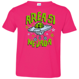 Area 51 Cartoon UFO - 3321 Toddler Jersey T-Shirt - Area 51 UFO Souvenirs Gifts T-Shirts