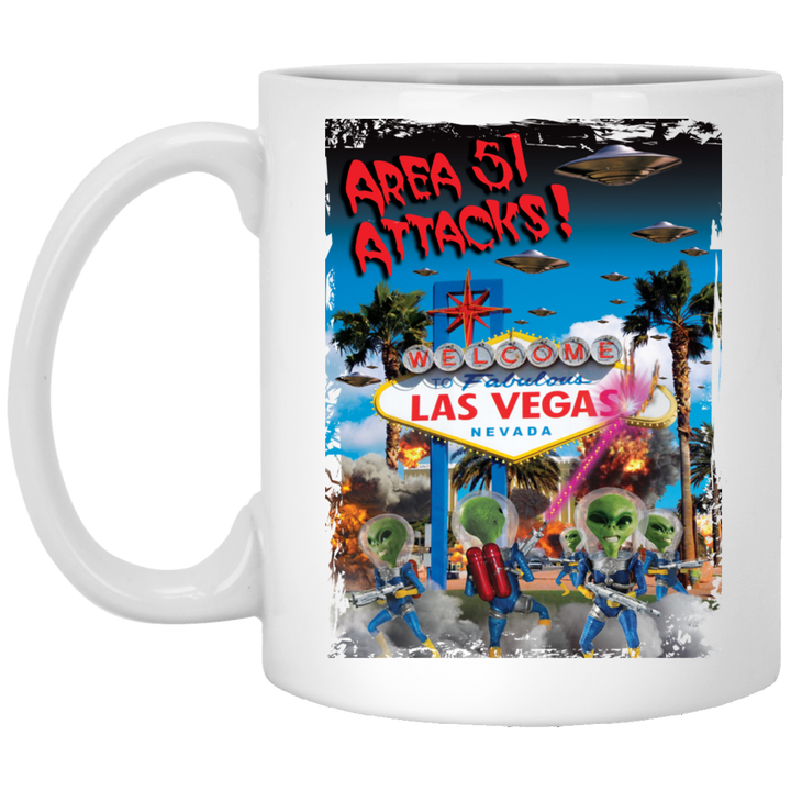 Area 51 Attacks - XP8434 11 oz. White Mug - Starbase9