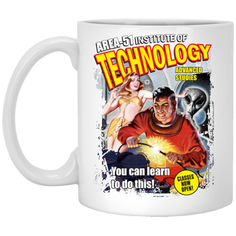 Area 51 Technology - XP8434 11 oz. White Mug - Starbase9