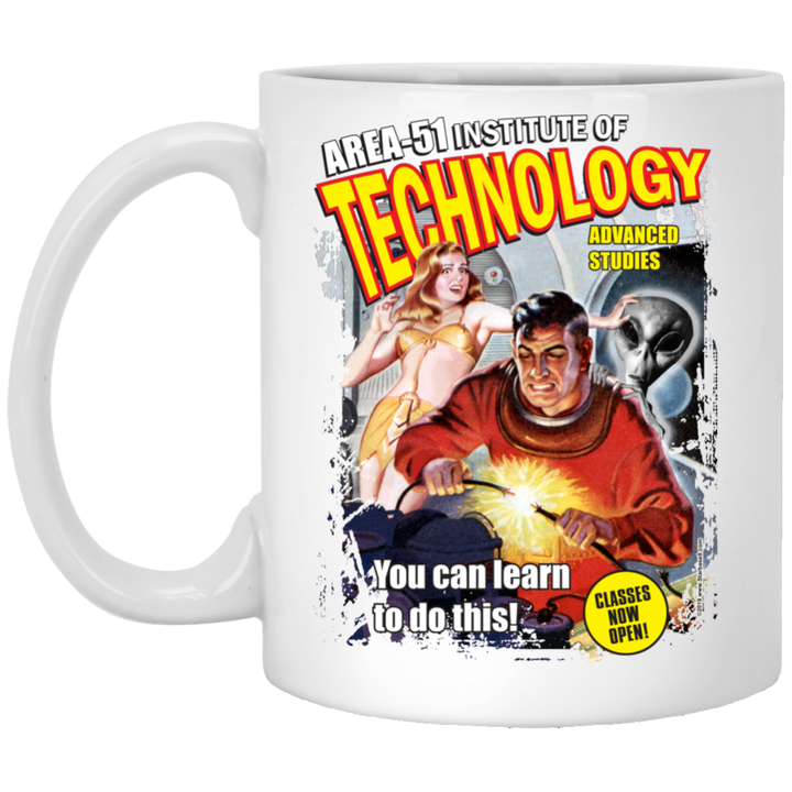 Area 51 Technology - XP8434 11 oz. White Mug - Area 51 UFO Souvenirs Gifts T-Shirts