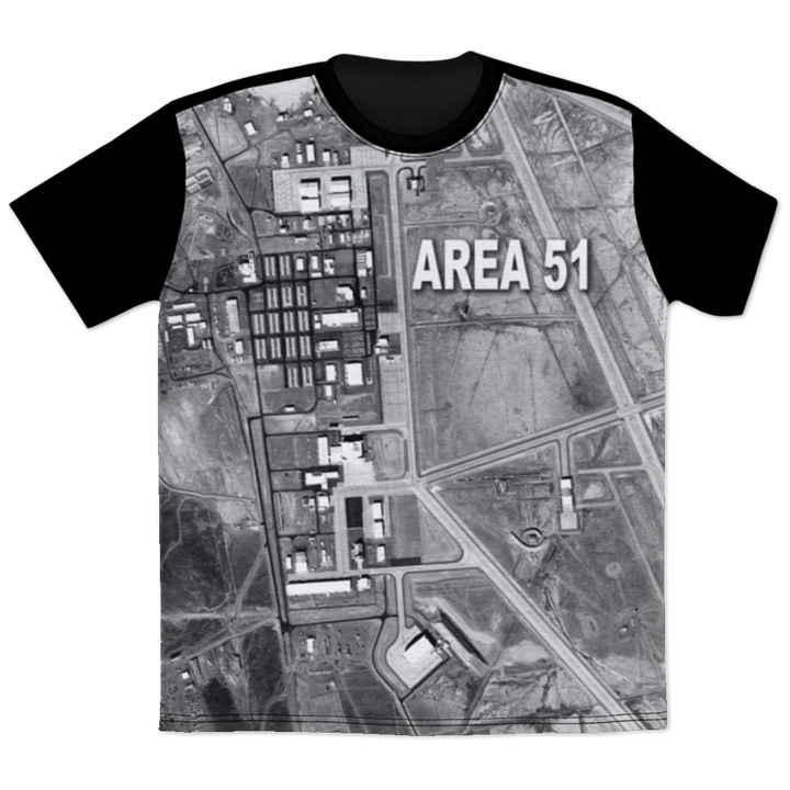 Area 51 Satellite Image - AOTEE All Over Print T-Shirt - Starbase9