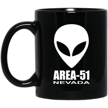 Area 51 Alien - BM11OZ 11 oz. Black Mug - Area 51 UFO Souvenirs Gifts T-Shirts