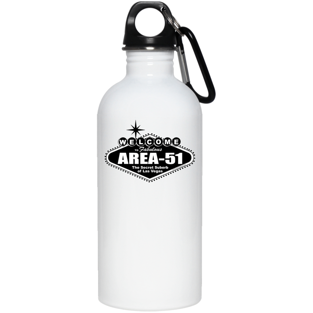 Welcome to Area 51 - 23663 20 oz. Stainless Steel Water Bottle - Starbase9
