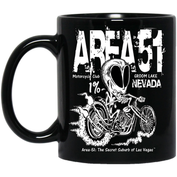 Area 51 Rat Bike - BM11OZ 11 oz. Black Mug - Starbase9