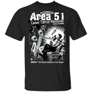 Area 51 Tattoo Removal 5.3 oz. T-Shirt - Starbase9