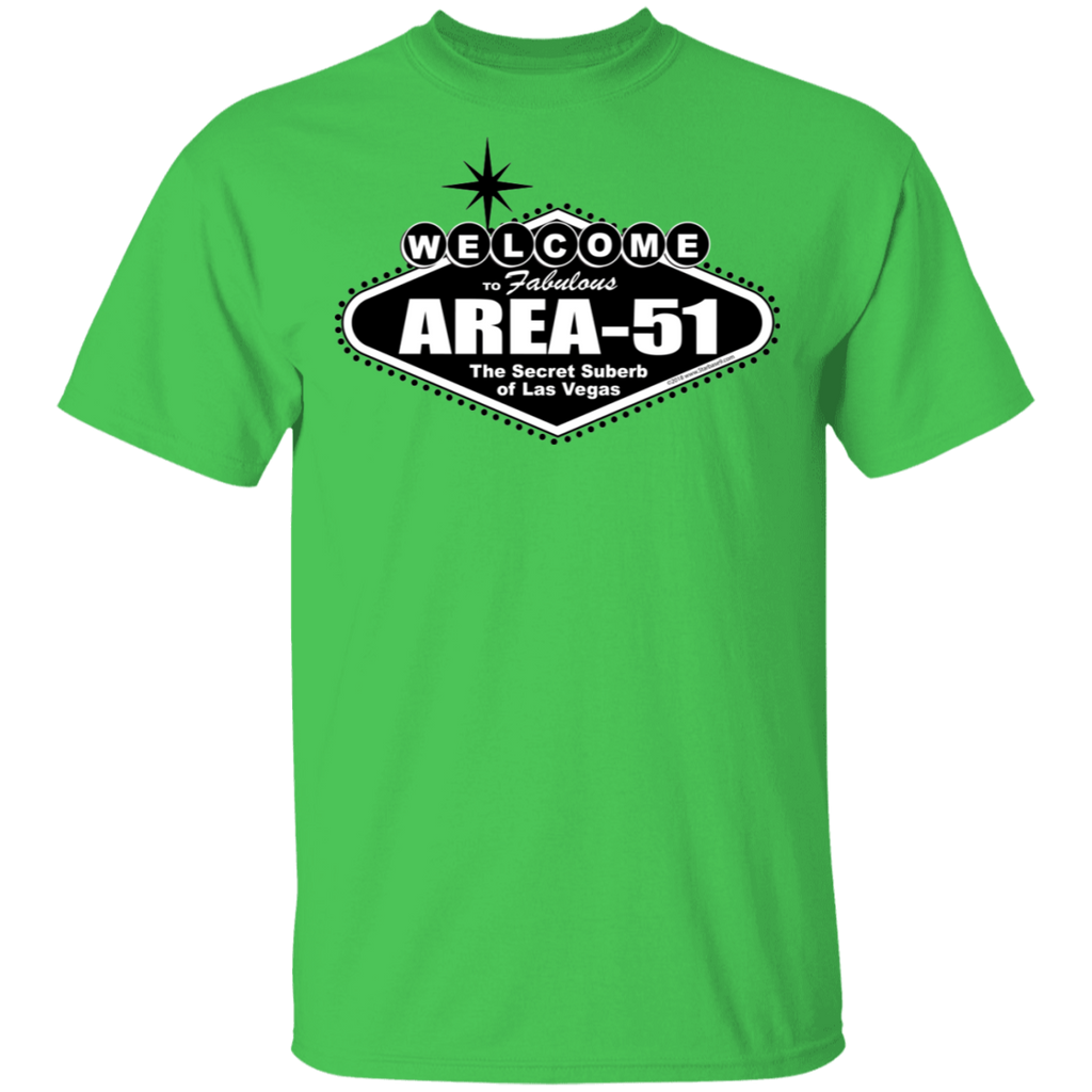 Welcome to Area 51 Lights - G500- 5.3 oz. T-Shirt - Starbase9