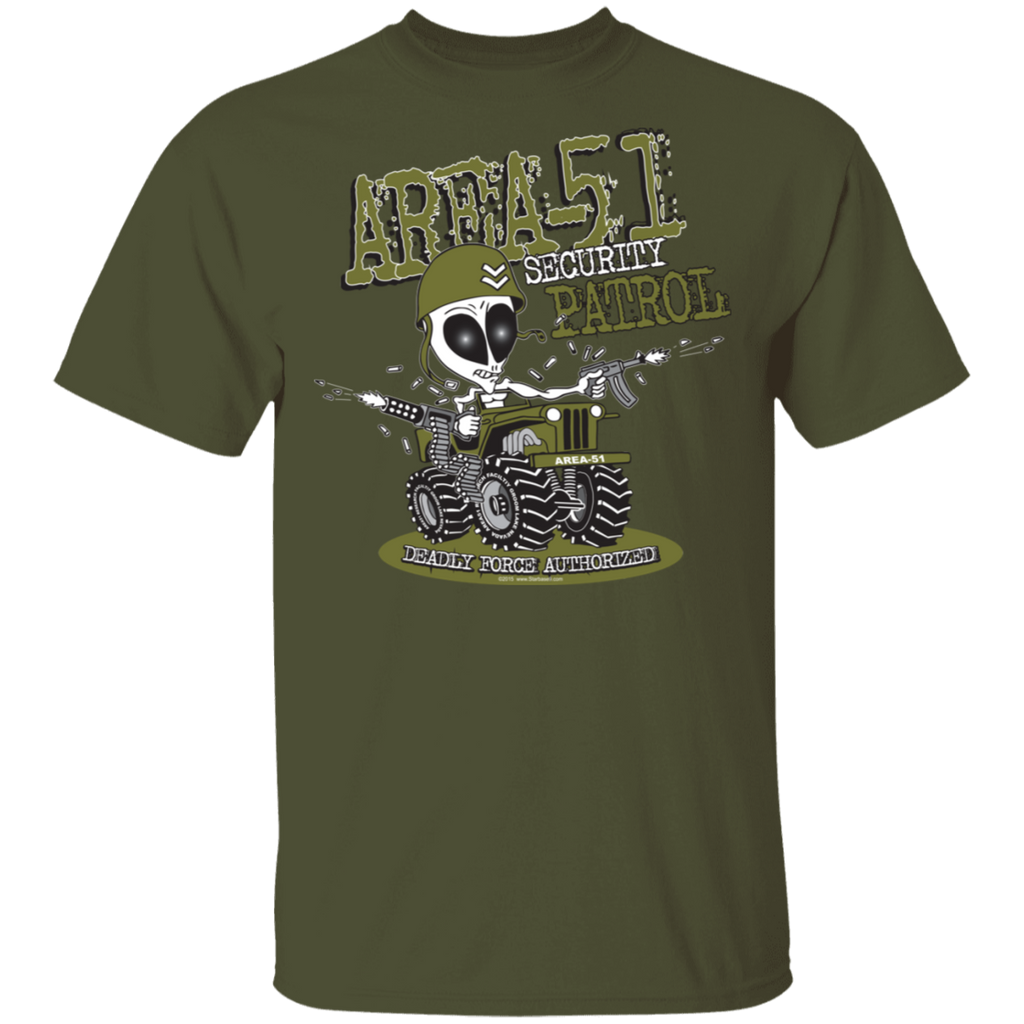 Area 51 Security Patrol 5.3 oz. T-Shirt - Starbase9