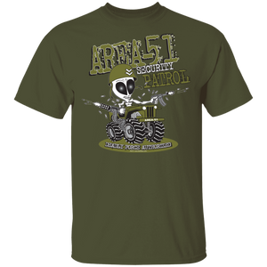 Area 51 Security Patrol - G500- 5.3 oz. T-Shirt - Starbase9