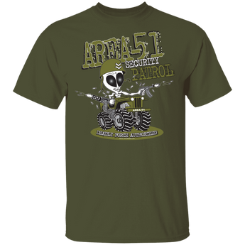 Area 51 Security Patrol T-Shirt - Area 51 UFO Souvenirs Gifts T-Shirts