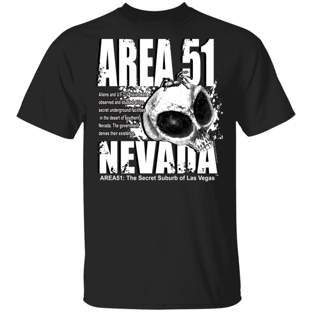 Area 51 Skull 5.3 oz. T-Shirt - Starbase9