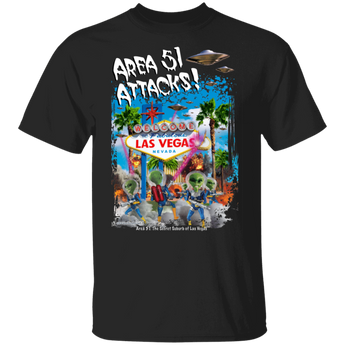 Area 51 Attacks T-Shirt - Starbase9