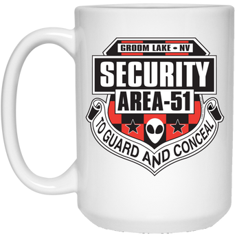 Area 51 UFO Security - 21504 15 oz. White Mug - Starbase9