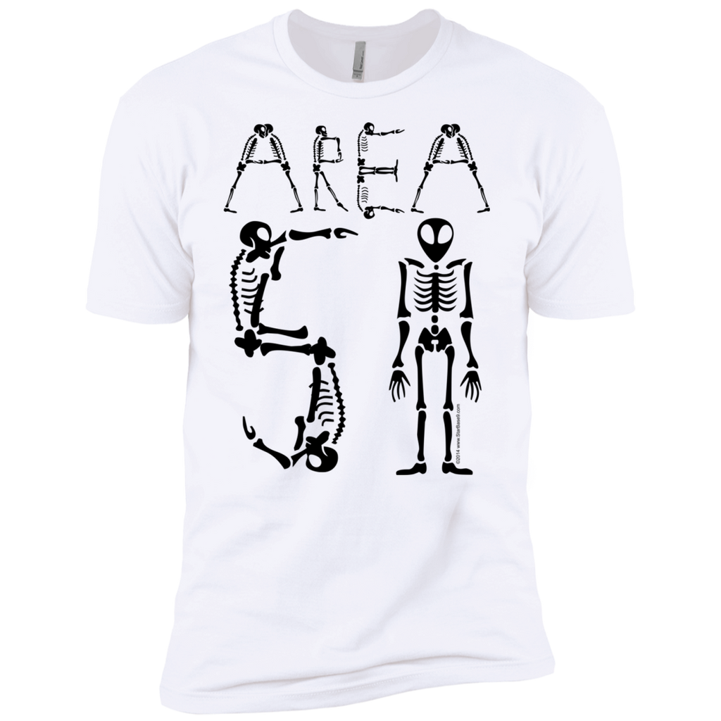 Area-51 Alien Skeleton Type Premium UFO T-Shirt - Starbase9