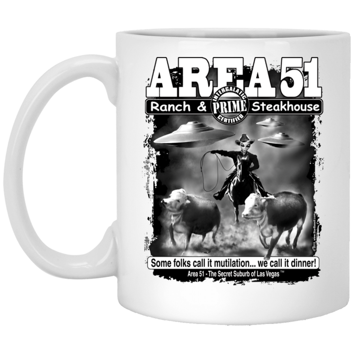 Area 51 Steakhouse XP8434 11 oz. White Mug - Starbase9