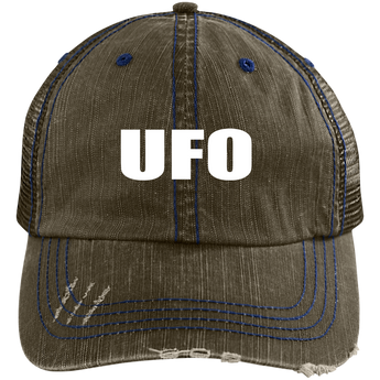 UFO - 6990 Distressed Unstructured Trucker Cap - Starbase9