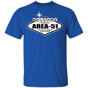 Welcome to Area 51 Darks - G500- 5.3 oz. T-Shirt - Starbase9