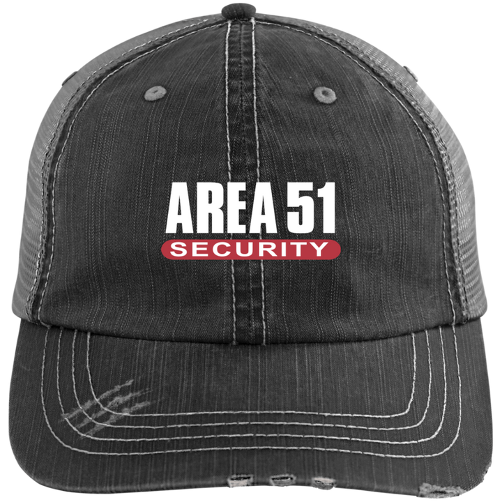 Area-51 Security Distressed UFO Trucker Cap - Starbase9
