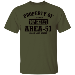 Property of Area51 - G500 5.3 oz. T-Shirt - Starbase9