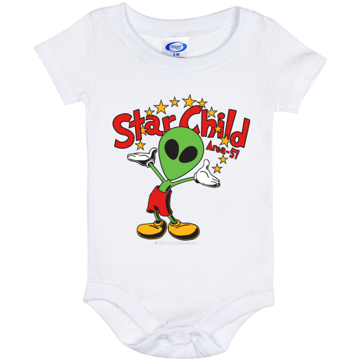 Area 51 Star Child - 106 Baby Onesie 6 Month - Area 51 UFO Souvenirs Gifts T-Shirts