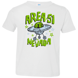 Area 51 Cartoon UFO - 3321 Toddler Jersey T-Shirt - Starbase9