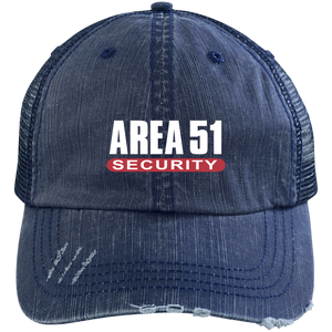 Area-51 Security Distressed Trucker Cap - Starbase9