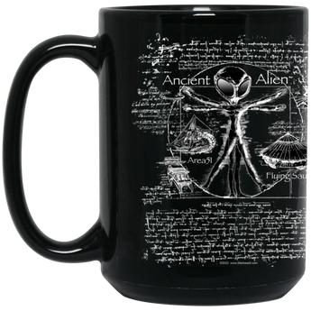 Ancient Alien 15 oz. Black Coffee Mug - Starbase9