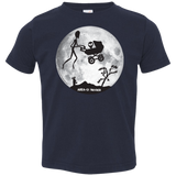 "Area 51 ""ET"" over the moon -3321 toddler t-shirts. - Area 51 UFO Souvenirs Gifts T-Shirts"