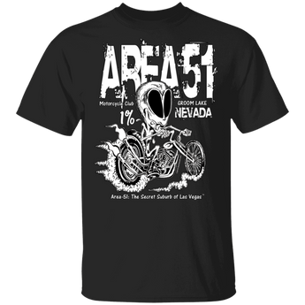 Area51 Rat Bike T-Shirt 5.3 oz. - Area 51 UFO Souvenirs Gifts T-Shirts