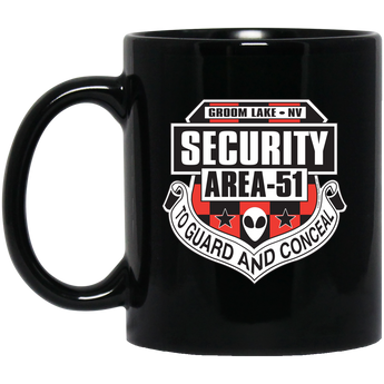 Area 51 Security - BM11OZ 11 oz. Black Mug - Starbase9