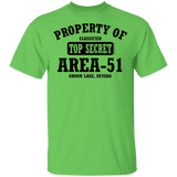 Property of Area 51 - G500B Youth 5.3 oz 100% Cotton T-Shirt - Starbase9