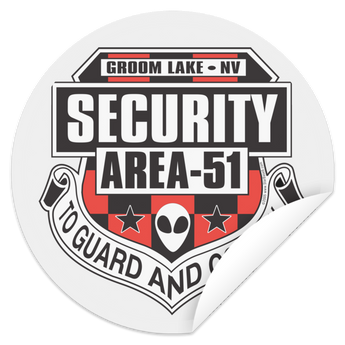 Area 51 Security - STCI Circle Sticker - Starbase9