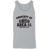 Property of Area 51 - 3480 Unisex Tank - Area 51 UFO Souvenirs Gifts T-Shirts