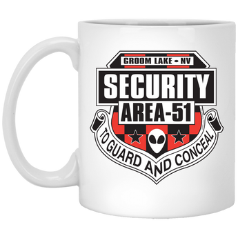Area 51 Security - XP8434 11 oz. White Mug - Starbase9