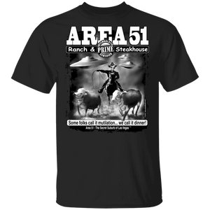 Area51 Steakhouse T-Shirt 5.3 oz. - Starbase9