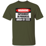 Area 51 Experiment 5.3 oz. T-Shirt - Starbase9