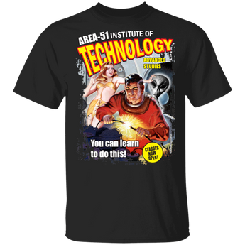 Area 51 UFO Institute of Technology 5.3 oz. T-Shirt - Area 51 UFO Souvenirs Gifts T-Shirts