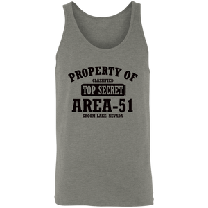 Property of Area 51 - 3480 Unisex Tank - Starbase9