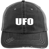 UFO - 6990 Distressed Unstructured Trucker Cap - Area 51 UFO Souvenirs Gifts T-Shirts