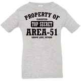Property of Area 51 - 3322 Infant Jersey T-Shirt - Starbase9