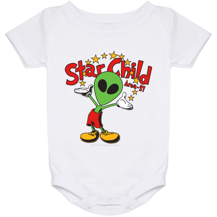 Area 51 Star Child - 1024 Baby Onesie 24 Month - Starbase9