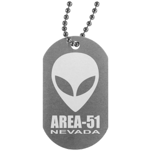 Area 51 - UN4004 Silver Dog Tag - Starbase9