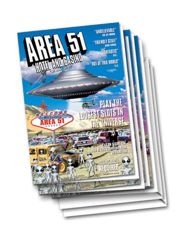 Area 51 Hotel Casino UFO ALien Area51 Greeting Card - Starbase9