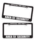 Area 51 UFO Security themed Area51 License Plate Frame - Starbase9