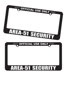Area 51 Area51 License Plate Frame - Starbase9