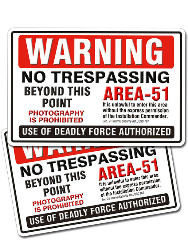 Copy of Area 51 Warning Official UFO Area51 Metal Sign - Starbase9